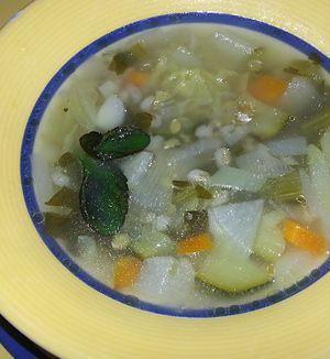 Sopa de Cevada Perolada